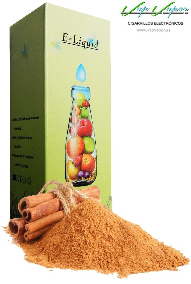 e-liquid Canela  http://www.vapvapor.es/cigarro-electronico-liquido  Líquidos para cigarrillos electrónicos de la marca e-liquid. Nuestra marca e-liquid se caracteriza por su gran variedad de aromas y sabores.     - e-liquid sabor Canela (adulzado)     - Categoría: frutas