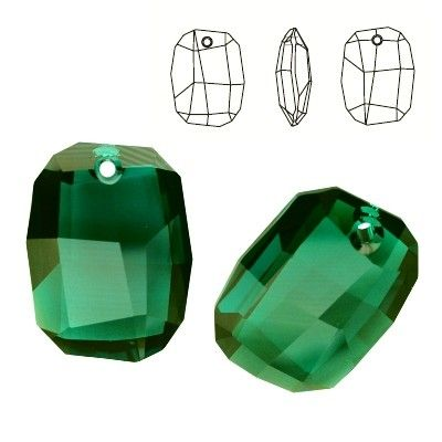 6685 Graphic 28mm Emerald  Dimensions: 28,0 mm Colour: Emerald 1 package = 1 piece