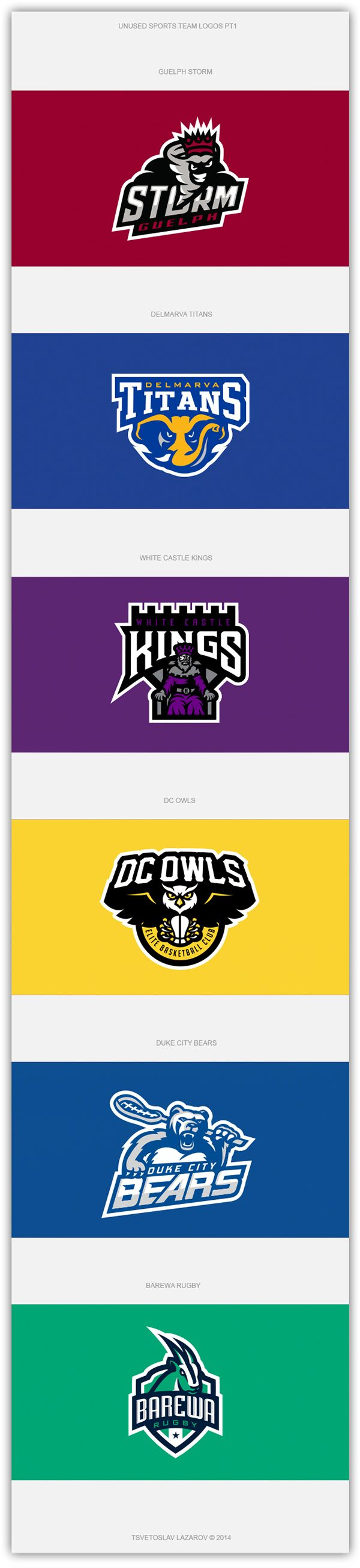 Unused Sports Team Logos PT1 on Behance | American Logo Sport Theme