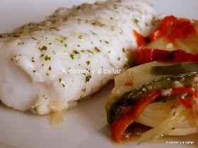 Una forma rápida y fácil de preparar un exquisito plato de pescado. Se hace en un santiamén y te aseguro que sale buenisimo, las patatas e...