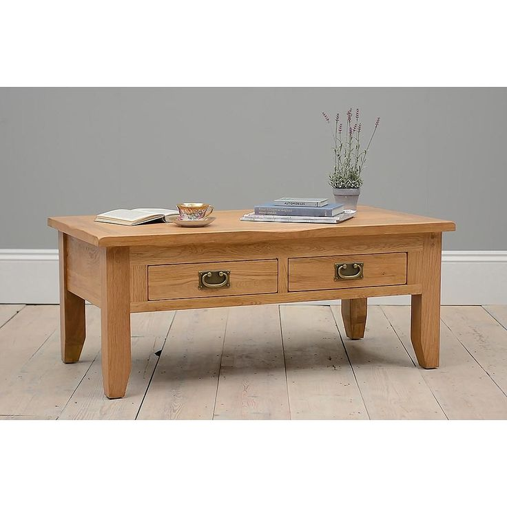 Small Pine Coffee Table With Drawers