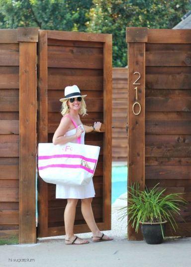 Hi Sugarplum | Horizontal Backyard Fence idea wall diy house