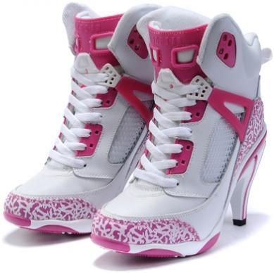 Air Jordan 3.5 High Heels White Pink2