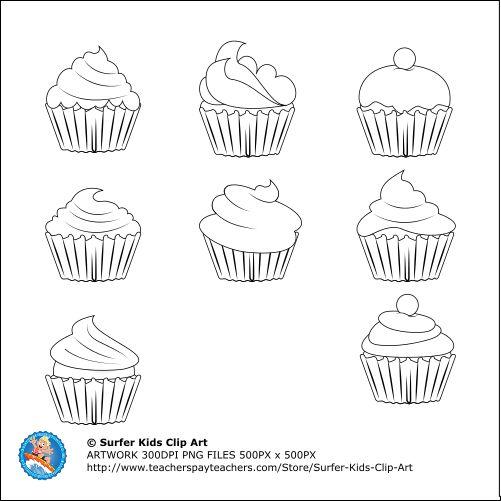 yummie Cupcakes B & W
