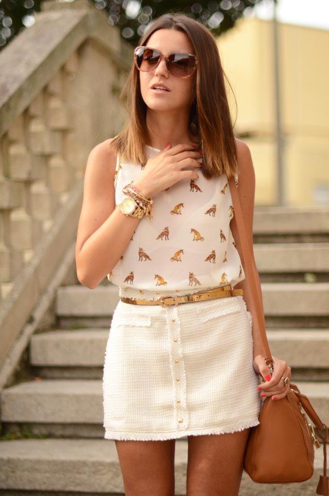 nude studded skirt | Lovely Pepa by Alexandra