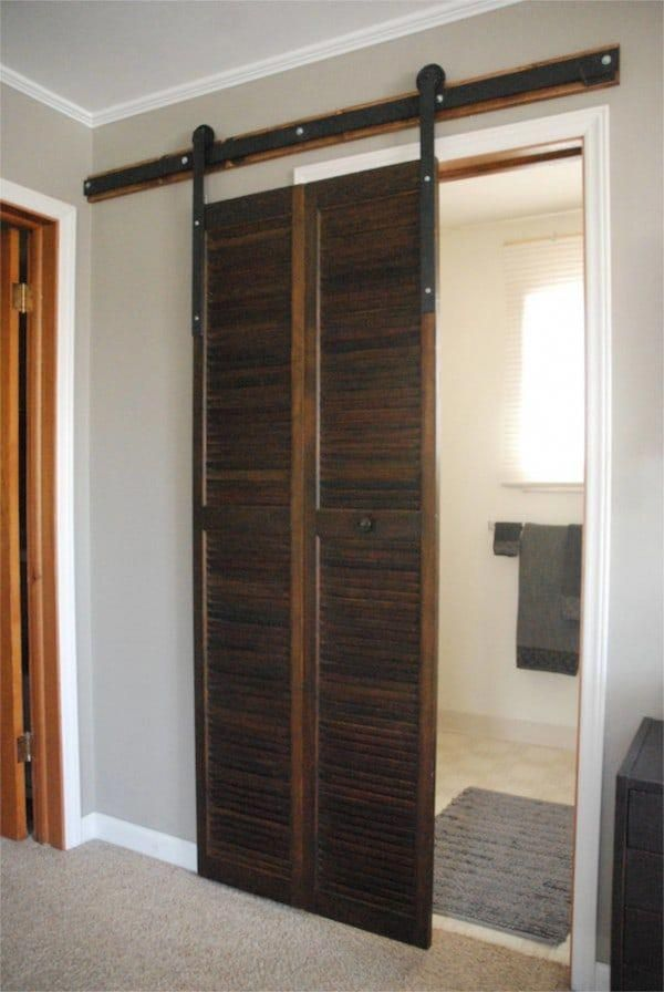 Barn Door Plastic Sliding Doors Interior Short Closet 20181203
