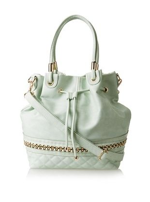 41% OFF Nila Anthony Women's Chain Detail Bucket Bag, Mint