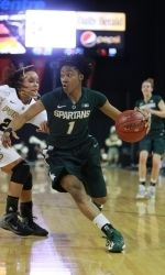Michigan State womens basketballs  Big Ten Tournament run came to an end on Sunday, losing to Purdue 64-47 in the championship game at the Sears Centre Arena in Hoffman Estates, Ill. Senior Jasmine Thomas, who led MSU with 14.7 points per game in the tournament, was named to the all-tournament team.