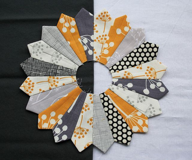 Another pinner said  --  echo dresden... What if it was done in two colors , white petals on black background , black petals on white background .. Stunning i think !