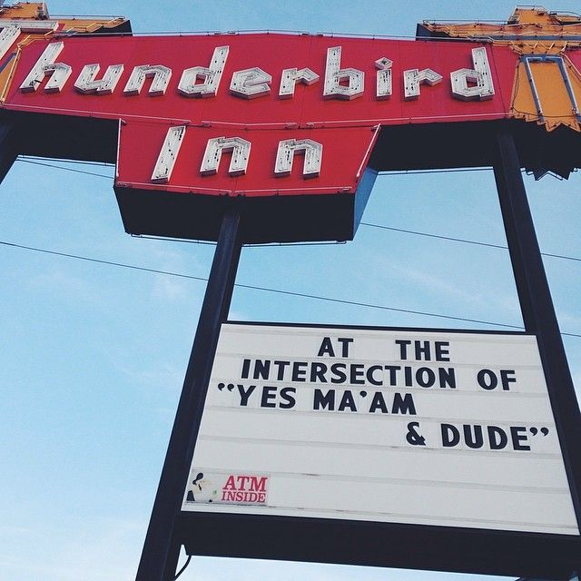 "The iconic Thunderbird Inn sign… ""At the intersection of yes ma'am and dude…"" love it! #Savannah #Georgia #icon"