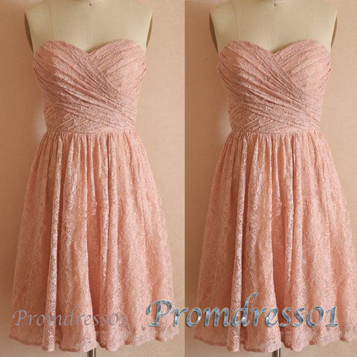 2015 cute sweetheart neckline light salmon mini slim modest lace prom dress for teens, ball gown, evening dress, homecoming dress #promdress #coniefox