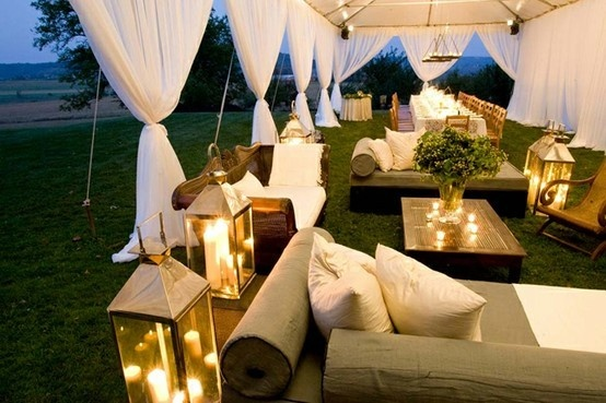 lounge inside the tents