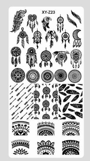newest 32 designs 1pc nail stamping plate nail beauty 3d diy pattern