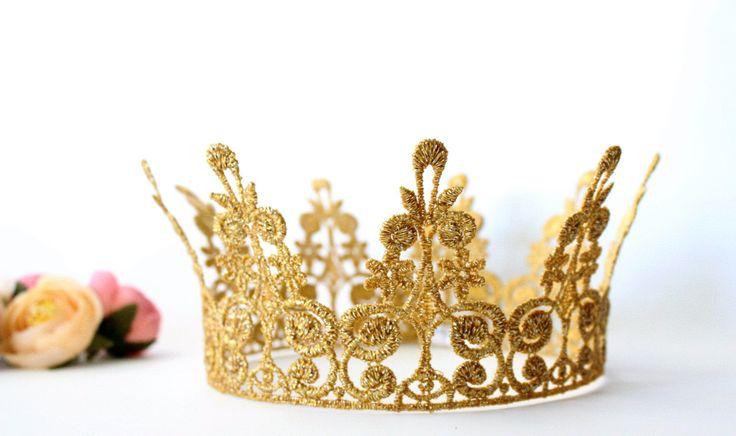 King Queen Gold Princess Crown Quinn Princess Crown