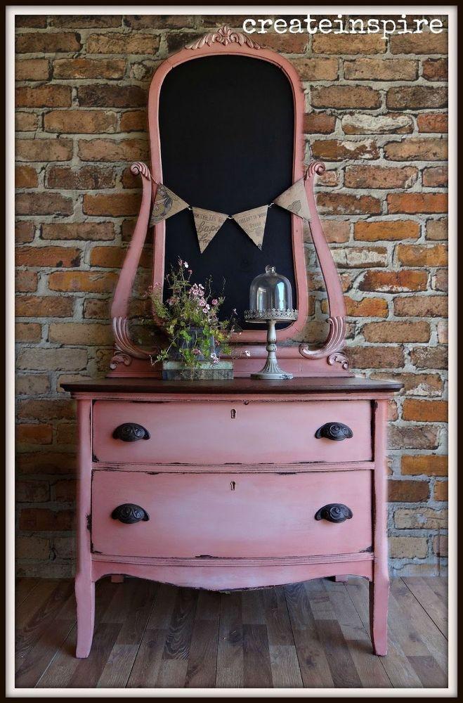 Antique Chest in Scandinavian Pink