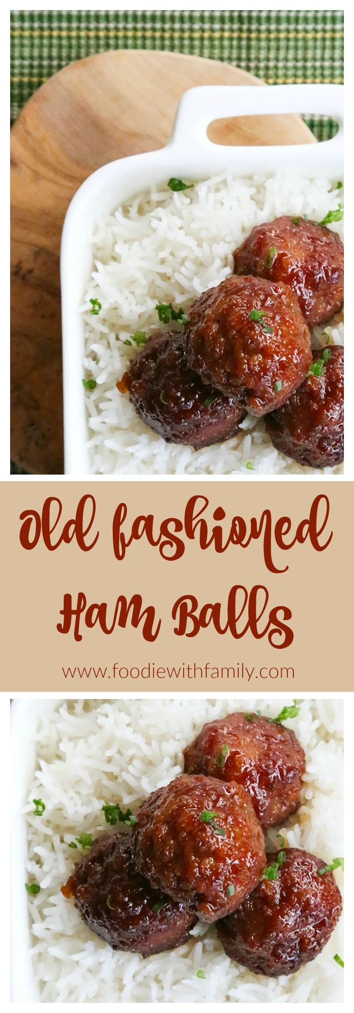 Old Fashioned Ham Balls: tender, salty-and-sweet, tangy, easy, and oh-so-craveable!
