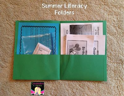 Summer Literacy Folders- promoting summer literacy: what to include inside