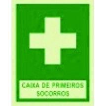 Placa de sinalização Caixa  de Primeiros  Socorros