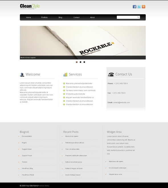 CleanStyle Wordpress Template