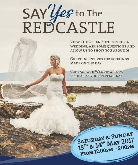 On 13th and 14th May, say Yes to the Redcastle! 😃 Pop into our Ocean Suite and see for yourself how it would look on your big day! Our Wedding Team will be there on hand to show you around and will happily answer all of your questions. Do not miss out, come and be inspired!