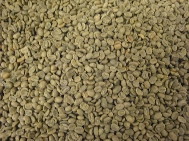 groene koffiebonen uit Peru