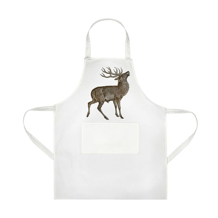 Discover the Thornback & Peel Stag Apron  - 60 x 80cm at Amara