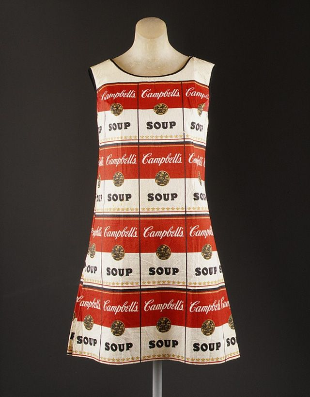 Actually, I would call this Art Imitates Art. The Souper Dress: a screenprinted paper pop art dress that was made and sold by Campbell's Soup Company in the late 1960s. This dress was inspired by Andy Warhol's 1962 artwork titled Campbell's Soup Cans.