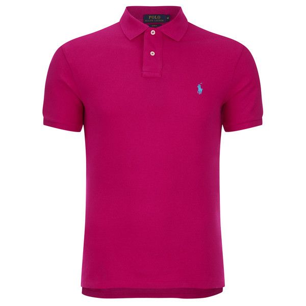 Polo Ralph Lauren Men's Slim Fit Polo Shirt - Hibiscus (3.585 RUB) ❤ liked on Polyvore featuring men's fashion, men's clothing, men's shirts, men's polos, pink, mens slim fit polo shirts, mens pink polo shirt, mens slim fit shirts, mens polo shirts and mens pink shirt