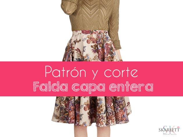 Patrones faldas / Falda capa entera