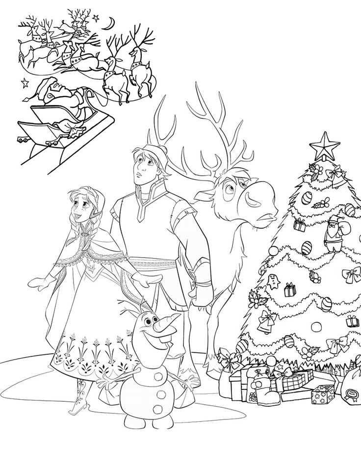 Frozen Christmas Coloring Pages Christmas coloring pages