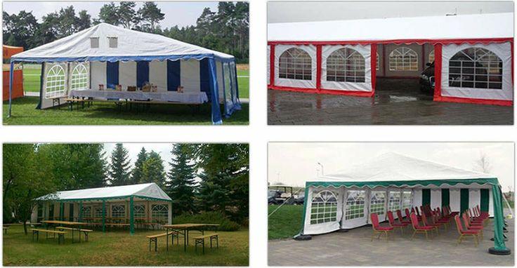 Examples of setting tents / Przykładowe konfiguracje namiotu handlowego
