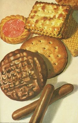 Ladybird - First Picture Book. Biscuits on a book cover - perfect!