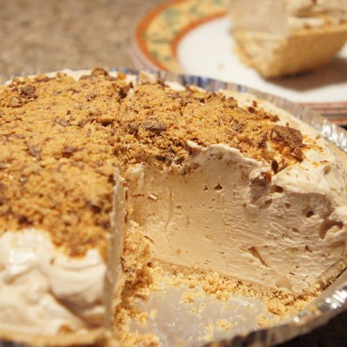 Easy... Frozen Peanut Butter Pie....great summer treat...•8 ounces Philadelphia Cream Cheese•1 cup icing sugar•3/4 cup Kraft Crunchy Peanut Butter•1 tub Cool Whip•1 graham or cookie crust