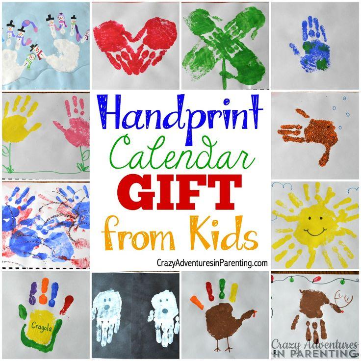 Calendar Ideas For Grandparents : Handprint calendar homemade gift ideas kids can make