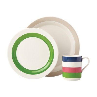 Kate Spade New York® Rainey Stripe 12-Piece Dinnerware Set #katespade #dinnerware #giftsforgrads