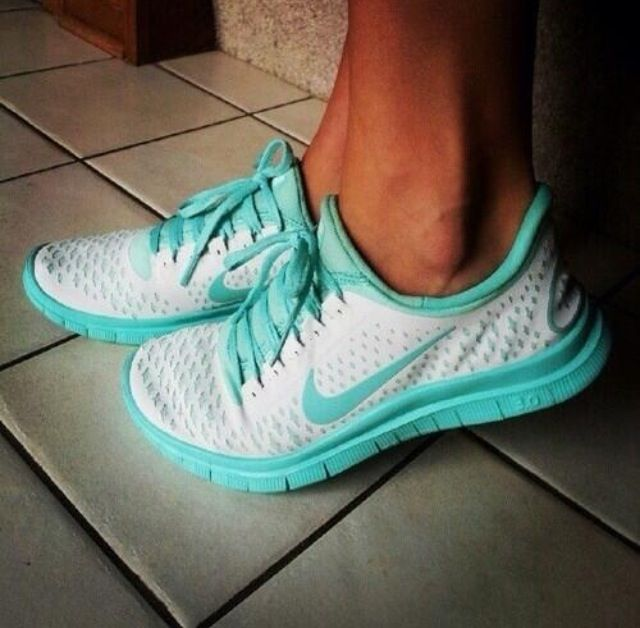 Tiffany blue Nike running shoes