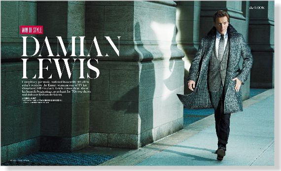 Man of Style: Damian Lewis. Clipped from InStyle using Netpage.