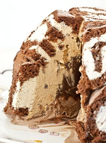 mississippi mud swiss rOll ice cream cake