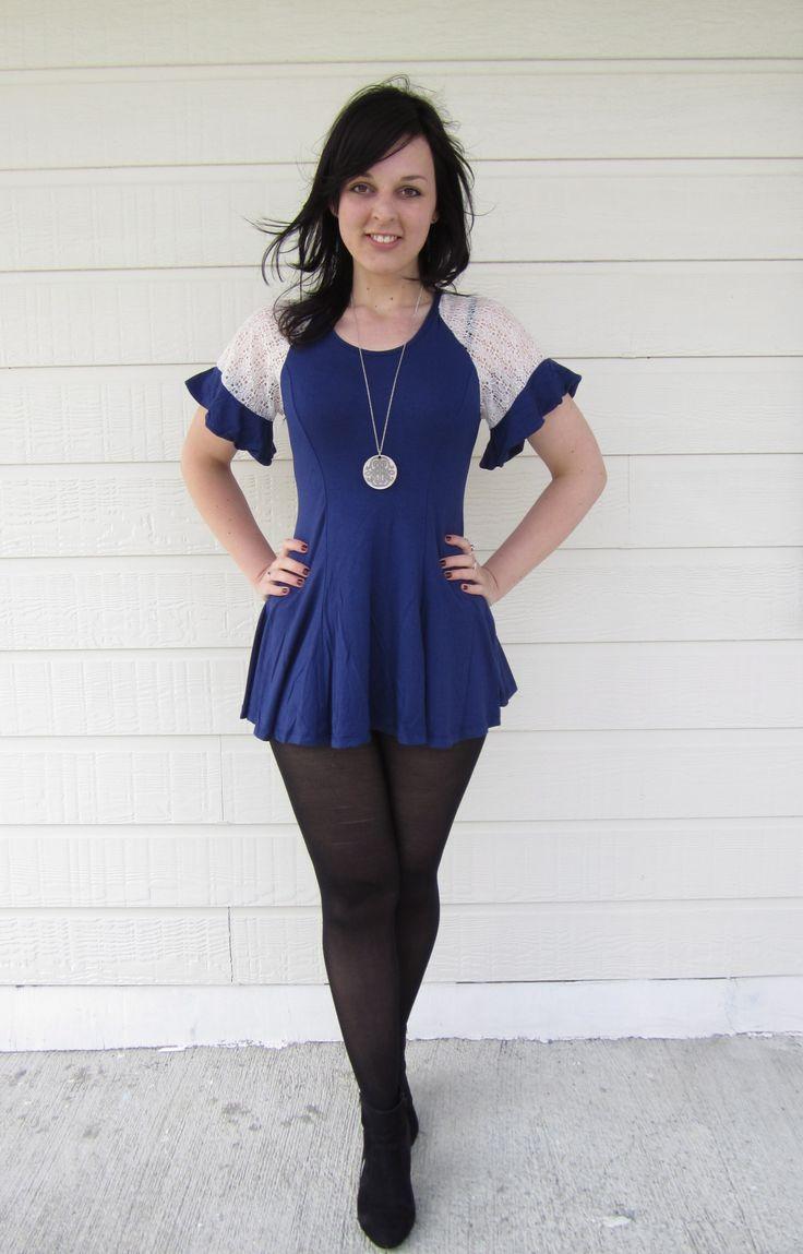 Navy Blue Dress Size 08 $19.99