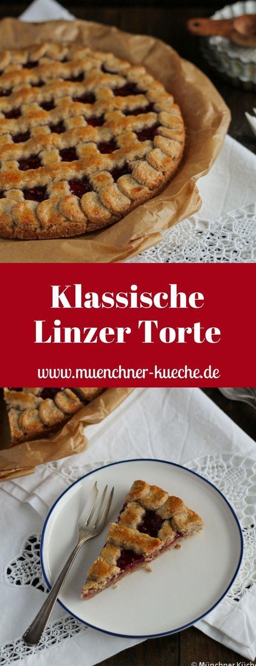 Die Linzer Torte gehört zu den Klassikern. www.muenchner-kue … # kuchen #linzer # …   – Essen