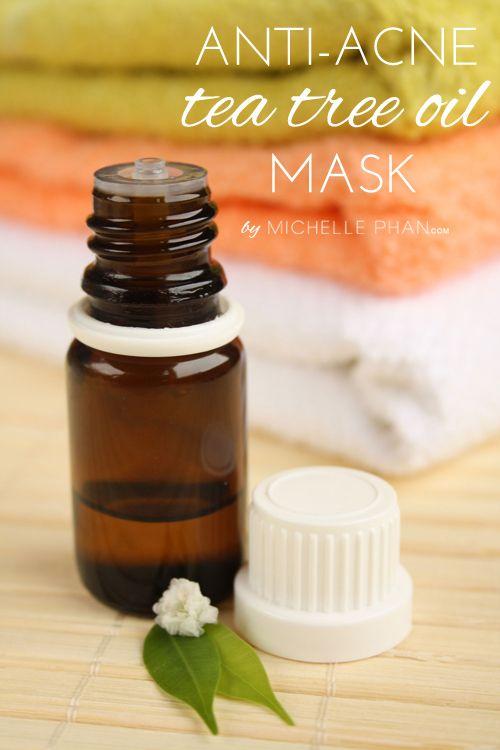 The benefits of tea tree oil - DIY anti-acne tea tree oil mask.