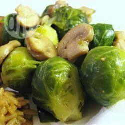 Photo de recette : Choux de Bruxelles et champignons