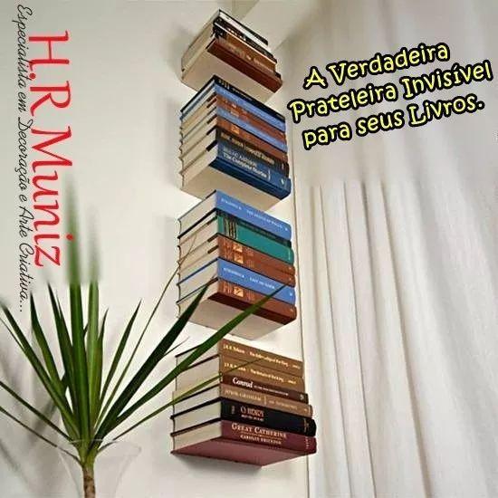 prateleira  invisível para livros - para os criativos