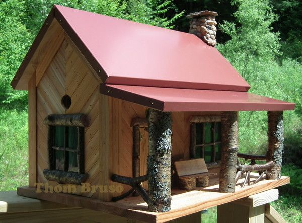 THOM BRUSO'S ARTISTIC BIRDHOUSES - WELCOME TO MY SHOP...... Fairies can live here, too!!!