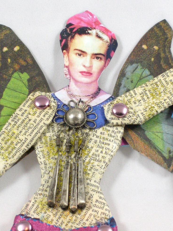 Frida Mermaid Art Doll by DeerGirlDesigns on Etsy