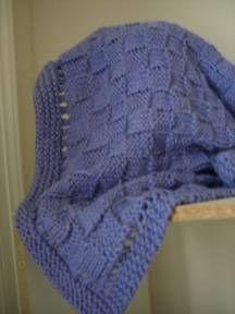 Blue Knit Baby Blanket-free pattern