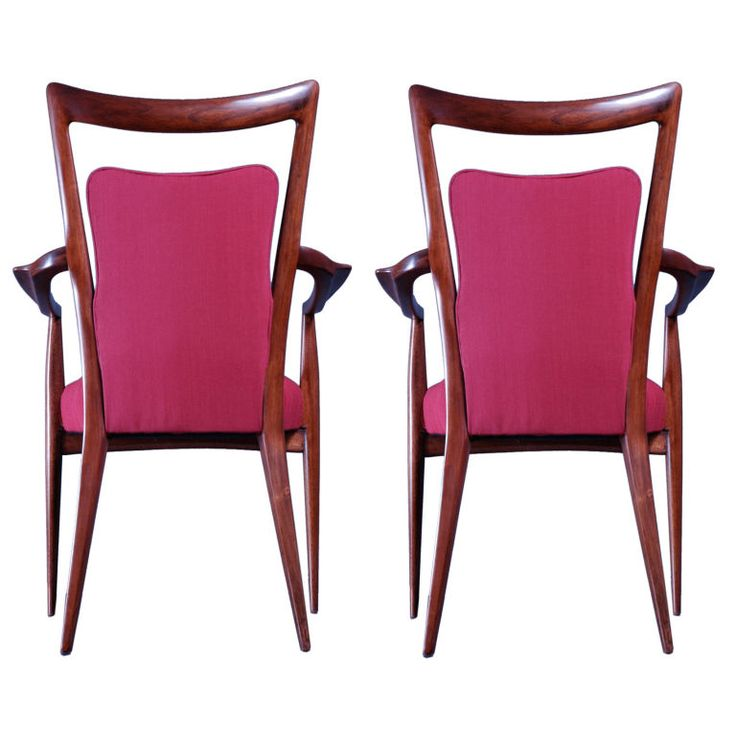 1947 Italian arm chairs by Melchiorre Bega and Mario Gottardi, prominent Milanese architects