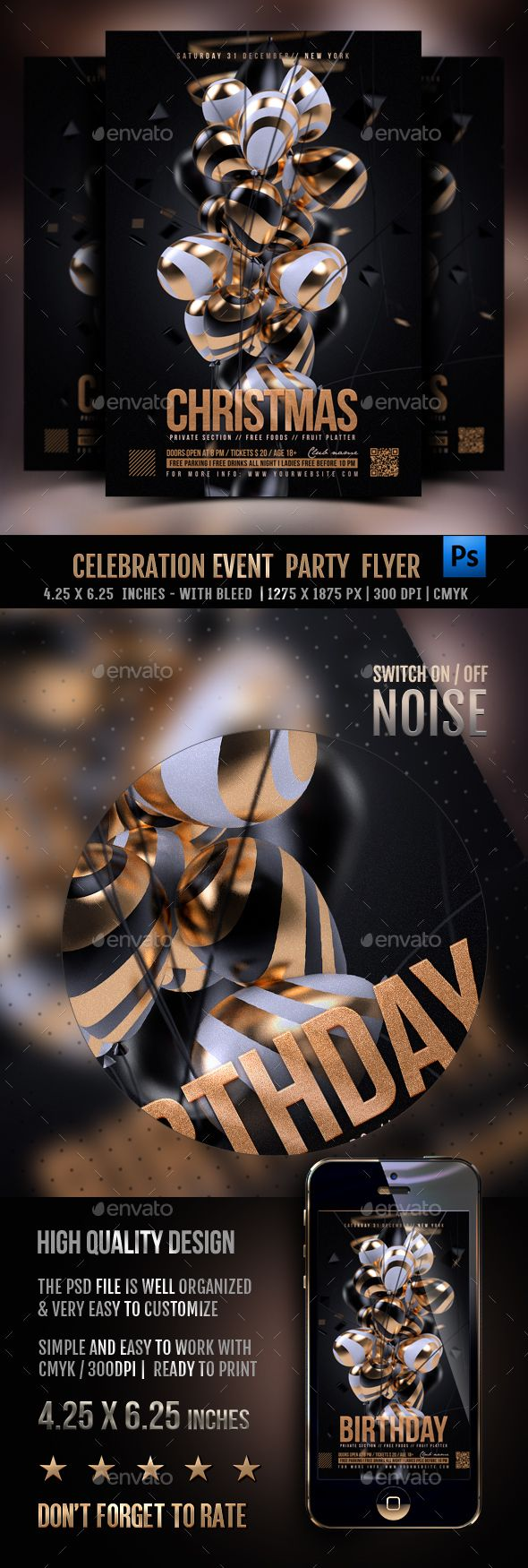 Celebration Event Party Flyer. Download: https://graphicriver.net/item/celebration-event-party-flyer/18761236?ref=thanhdesign