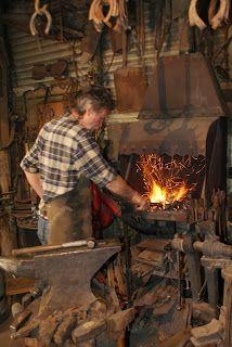 Forge work at River Lane Blacksmith, Mannum, SA.
