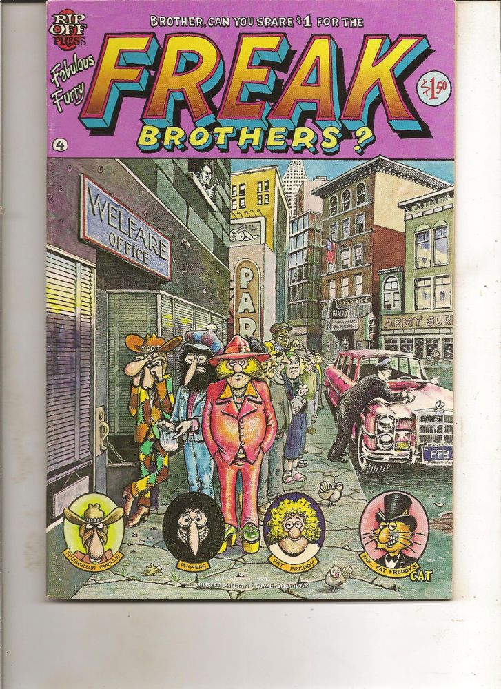 fabulous furry freak brothers 4 1980 rip off press v f from
